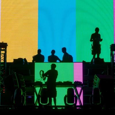Mérida, 02/09/2016.- STONE&MUSIC_2016. Pruebas  Iluminación concierto de David Guetta. Foto/ Jero Morales