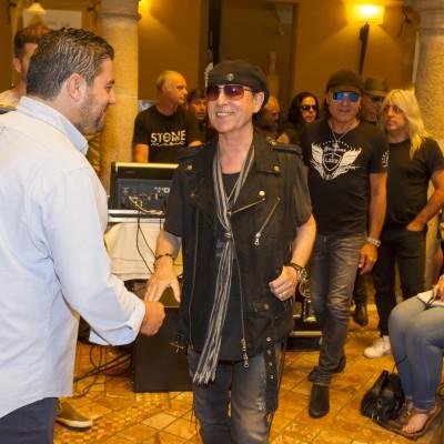 ME1 13/06/2017 (EFE) Mérida.- La banda de hard rock, Scorpions, durante la presentación del concierto que ofrecerá mañana en Mérida, dentro de la programación del Stone&Music. EFE/ jero Morales
