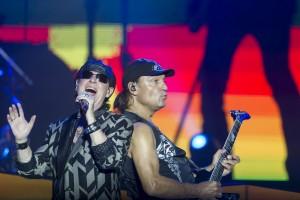 Momento del concierto en Mérida de Scorpions