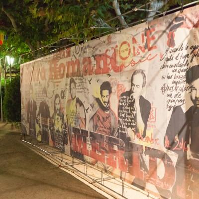 Photocall entrada al Teatro Romano