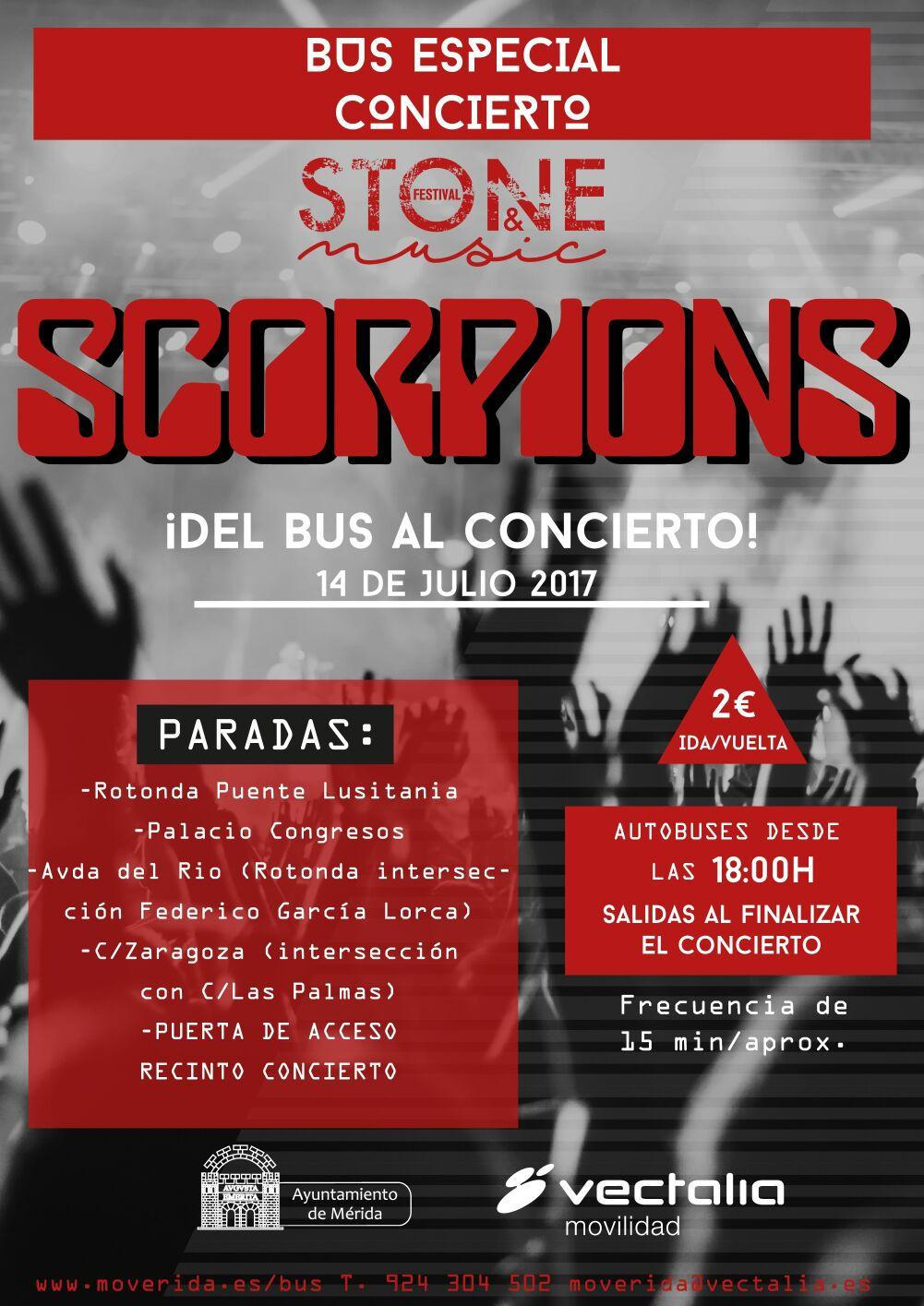 Ven en bus al concierto de Scorpions