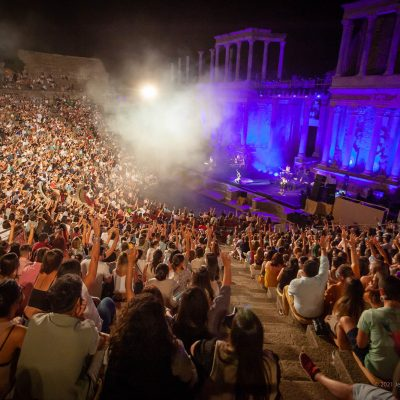 STONE&MUSIC FESTIVAL 12/09/2021.- Teatro Romano de Mérida. segundo concierto de Camilo . Foto/ Jero Morales