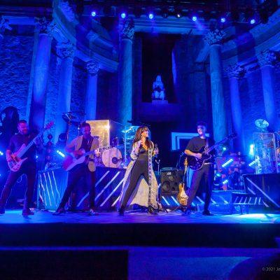 STONE&MUSIC FESTIVAL 10/09/2021.- Teatro Romano de Mérida.Vanesa Martín . Foto/ Jero Morales